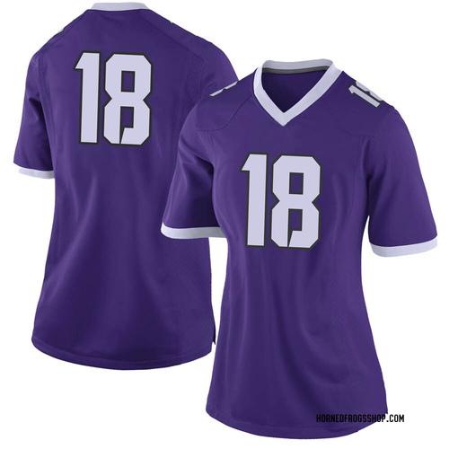 Women's Nike Matthew Baldwin TCU Horned Frogs Limited Purple Football College Jersey