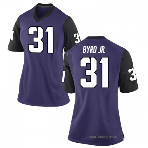 Women's Nike Michael Byrd Jr. TCU Horned Frogs Replica Purple Football College Jersey