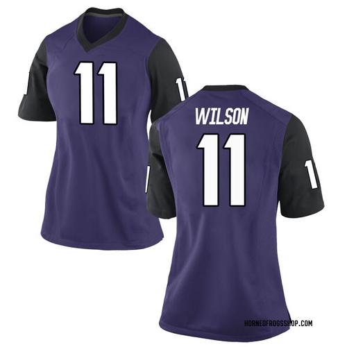 Women's Nike Montrel Wilson TCU Horned Frogs Game Purple Football College Jersey