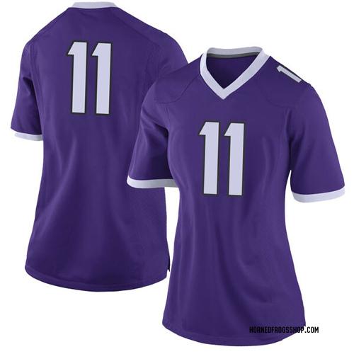 Women's Nike Montrel Wilson TCU Horned Frogs Limited Purple Football College Jersey