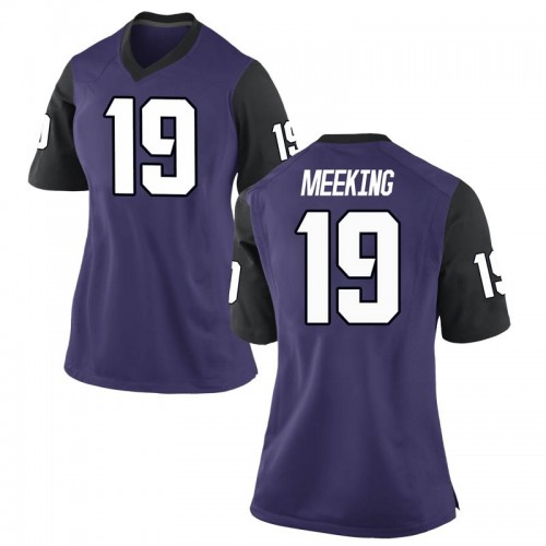 Women's Nike Nijeel Meeking TCU Horned Frogs Game Purple Football College Jersey