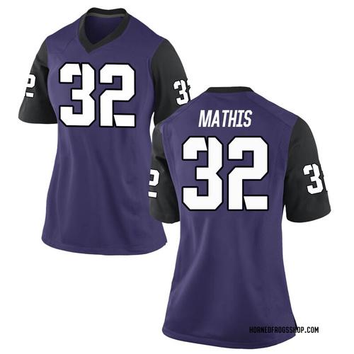Women's Nike Ochaun Mathis TCU Horned Frogs Game Purple Football College Jersey