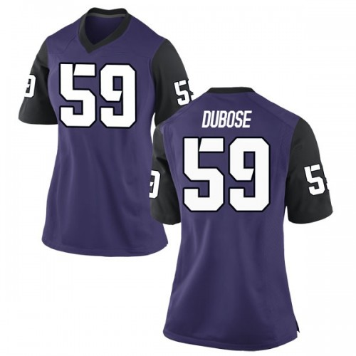 Women's Nike Parker DuBose TCU Horned Frogs Replica Purple Football College Jersey