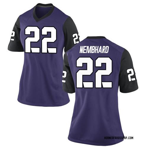 Women's Nike RJ Nembhard TCU Horned Frogs Game Purple Football College Jersey