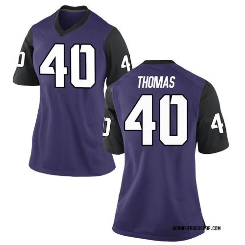 Women's Nike Ray Thomas TCU Horned Frogs Replica Purple Football College Jersey
