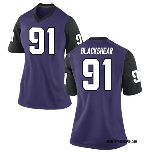 Women's Nike Shameik Blackshear TCU Horned Frogs Game Purple Football College Jersey