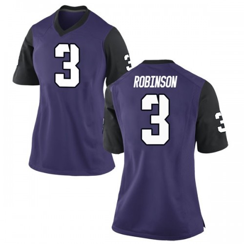Women's Nike Shawn Robinson TCU Horned Frogs Game Purple Football College Jersey