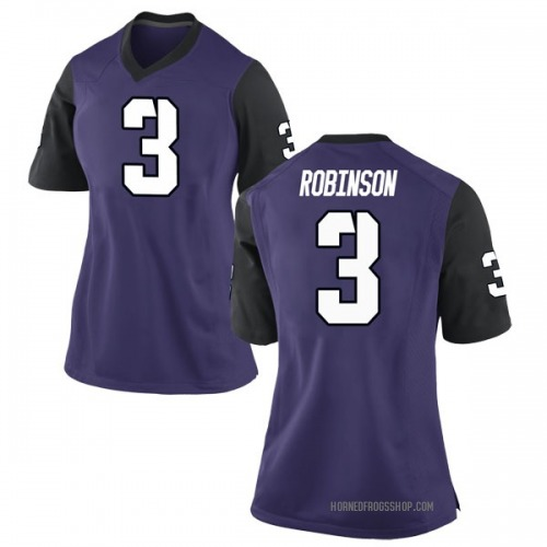 Women's Nike Shawn Robinson TCU Horned Frogs Replica Purple Football College Jersey