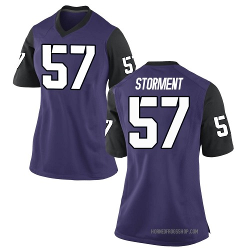 Women's Nike T.J. Storment TCU Horned Frogs Game Purple Football College Jersey