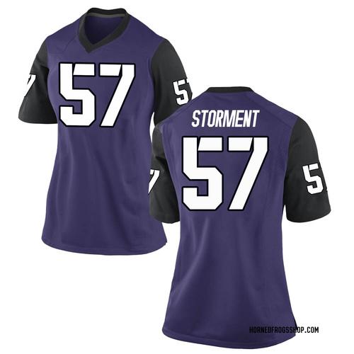 Women's Nike T.J. Storment TCU Horned Frogs Replica Purple Football College Jersey