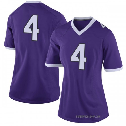 Women's Nike Taye Barber TCU Horned Frogs Limited Purple Football College Jersey