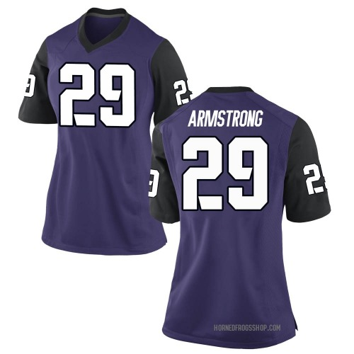 Women's Nike Thomas Armstrong TCU Horned Frogs Replica Purple Football College Jersey