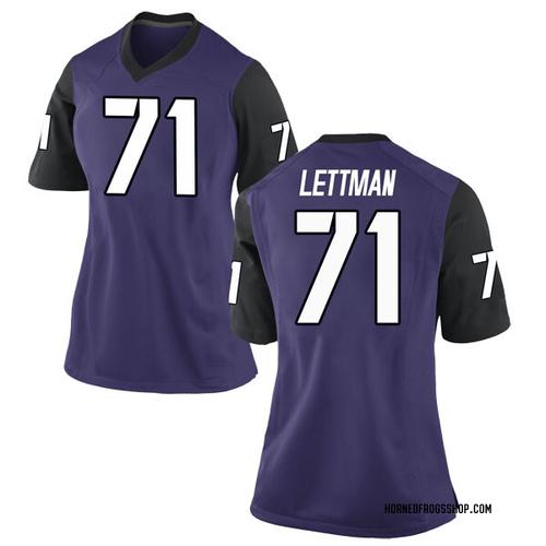 Women's Nike Toby Lettman TCU Horned Frogs Game Purple Football College Jersey