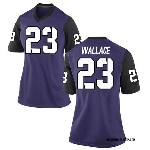 Women's Nike Tony Wallace TCU Horned Frogs Game Purple Football College Jersey