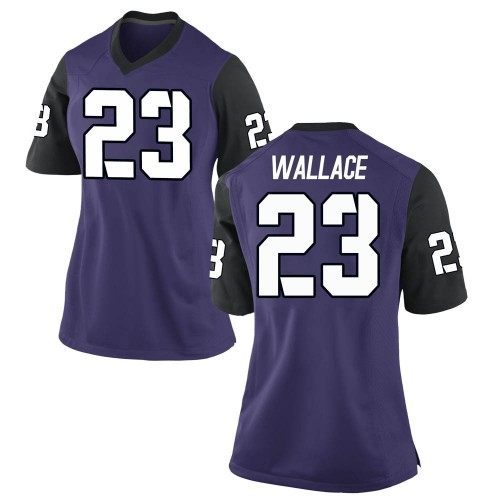 Women's Nike Tony Wallace TCU Horned Frogs Replica Purple Football College Jersey
