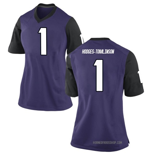 Women's Nike Tre'Vius Hodges-Tomlinson TCU Horned Frogs Replica Purple Football College Jersey