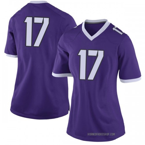 Women's Nike Trevon Moehrig-Woodard TCU Horned Frogs Limited Purple Football College Jersey