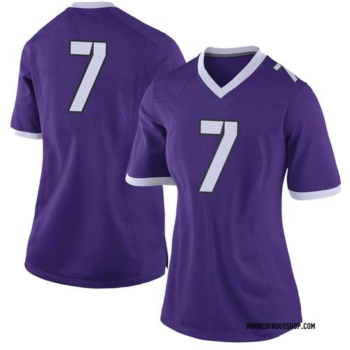 Women's Nike Trevon Moehrig-Woodard TCU Horned Frogs Limited Purple Football College Jersey
