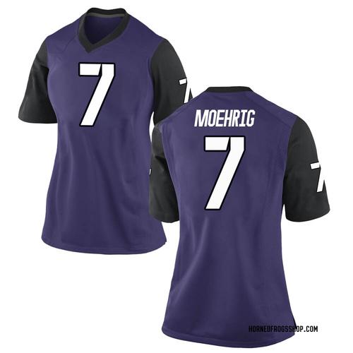 Women's Nike Trevon Moehrig-Woodard TCU Horned Frogs Replica Purple Football College Jersey