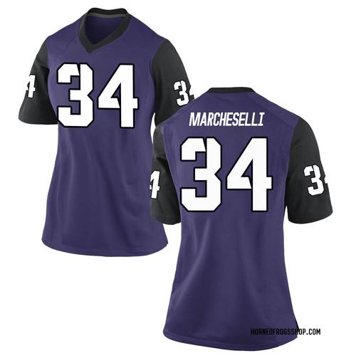 Women's Nike Zach Marcheselli TCU Horned Frogs Replica Purple Football College Jersey
