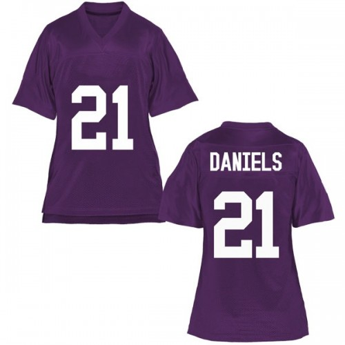 Women's Noah Daniels TCU Horned Frogs Replica Purple Football College Jersey