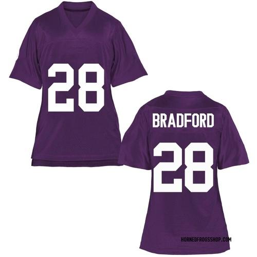 Women's Nook Bradford TCU Horned Frogs Game Purple Football College Jersey