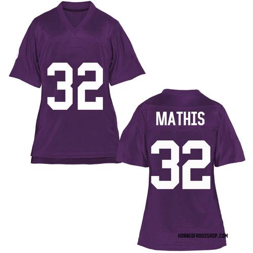 Women's Ochaun Mathis TCU Horned Frogs Game Purple Football College Jersey