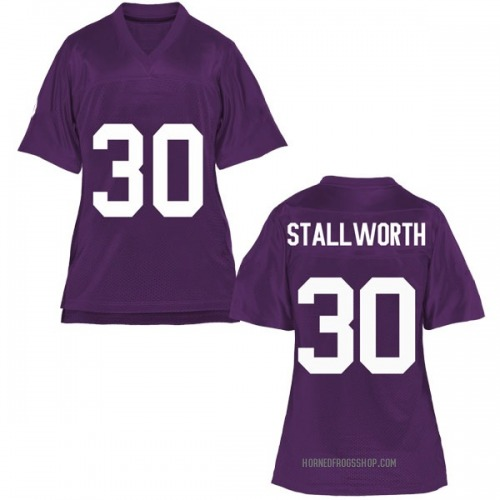 Women's Omega Stallworth TCU Horned Frogs Game Purple Football College Jersey