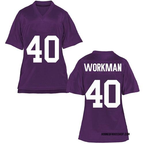 Women's Parker Workman TCU Horned Frogs Replica Purple Football College Jersey