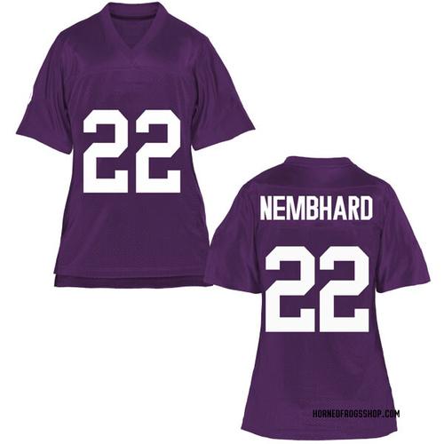 Women's RJ Nembhard TCU Horned Frogs Game Purple Football College Jersey
