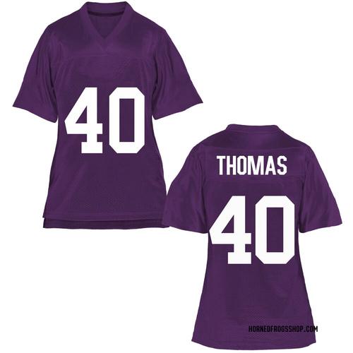 Women's Ray Thomas TCU Horned Frogs Replica Purple Football College Jersey