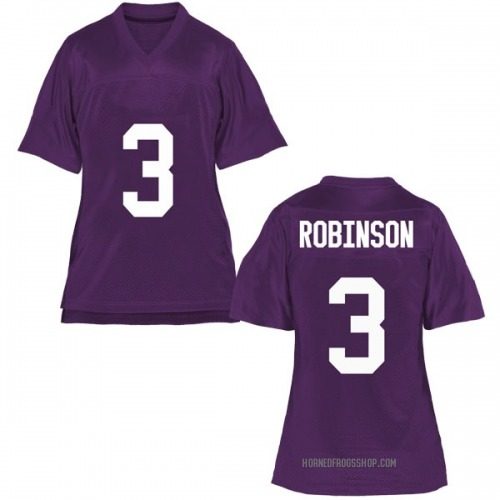 Women's Shawn Robinson TCU Horned Frogs Replica Purple Football College Jersey