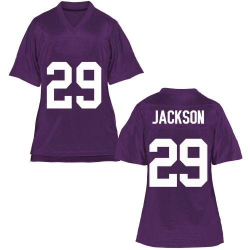 Women's Sterling Jackson TCU Horned Frogs Replica Purple Football College Jersey
