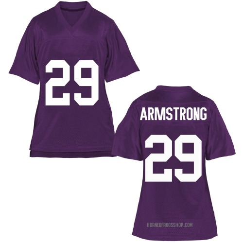 Women's Thomas Armstrong TCU Horned Frogs Replica Purple Football College Jersey