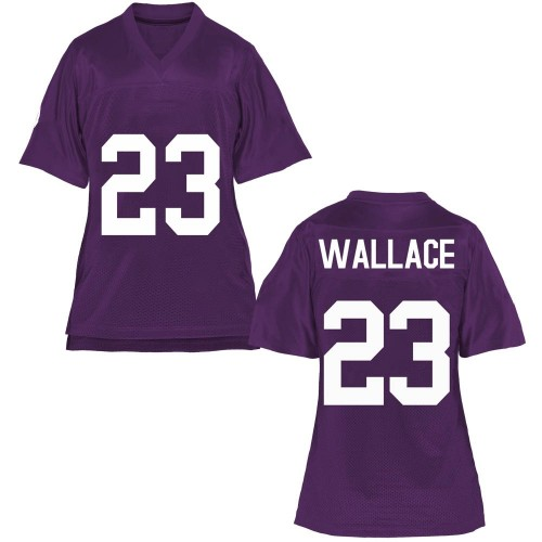 Women's Tony Wallace TCU Horned Frogs Game Purple Football College Jersey