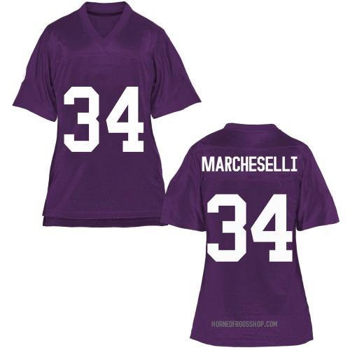 Women's Zach Marcheselli TCU Horned Frogs Game Purple Football College Jersey
