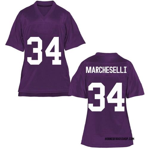 Women's Zach Marcheselli TCU Horned Frogs Replica Purple Football College Jersey