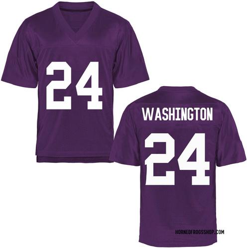 Youth Ar'Darius Washington TCU Horned Frogs Game Purple Football College Jersey