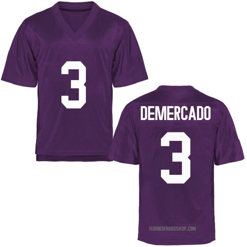 Youth Emari Demercado TCU Horned Frogs Replica Purple Football College Jersey