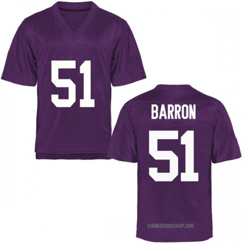 Youth Harrison Barron TCU Horned Frogs Game Purple Football College Jersey