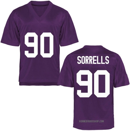 Youth Jaquaze Sorrells TCU Horned Frogs Replica Purple Football College Jersey