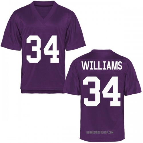 Youth Kenrich Williams TCU Horned Frogs Replica Purple Football College Jersey
