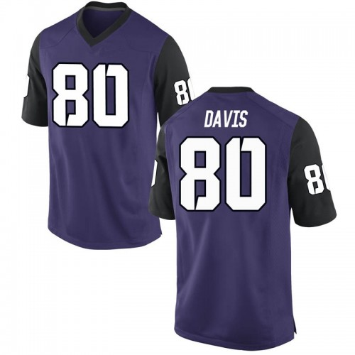 Youth Nike Al'Dontre Davis TCU Horned Frogs Replica Purple Football College Jersey