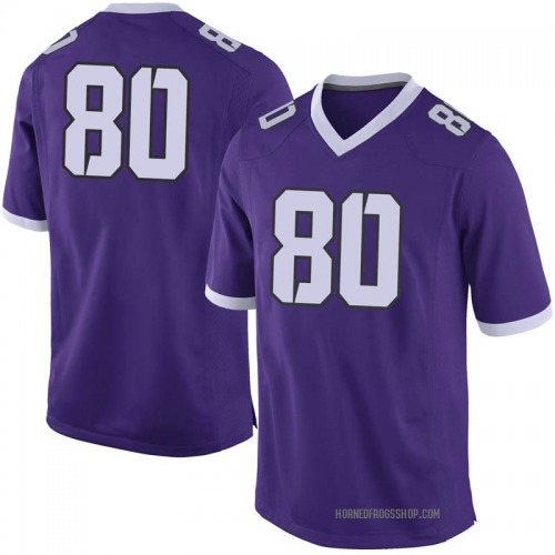 Youth Nike Aldontre Davis TCU Horned Frogs Limited Purple Football College Jersey