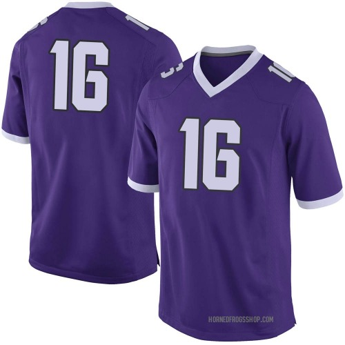Youth Nike Alex Delton TCU Horned Frogs Limited Purple Football College Jersey