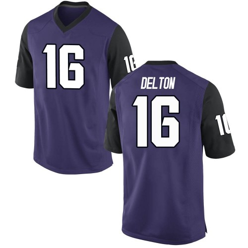 Youth Nike Alex Delton TCU Horned Frogs Replica Purple Football College Jersey