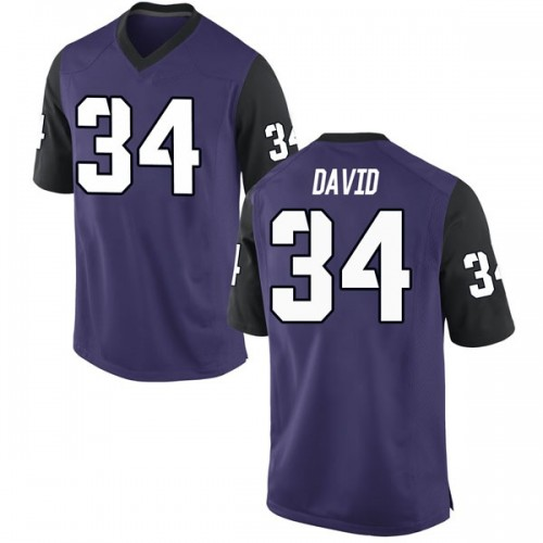 Youth Nike Andrew David TCU Horned Frogs Replica Purple Football College Jersey