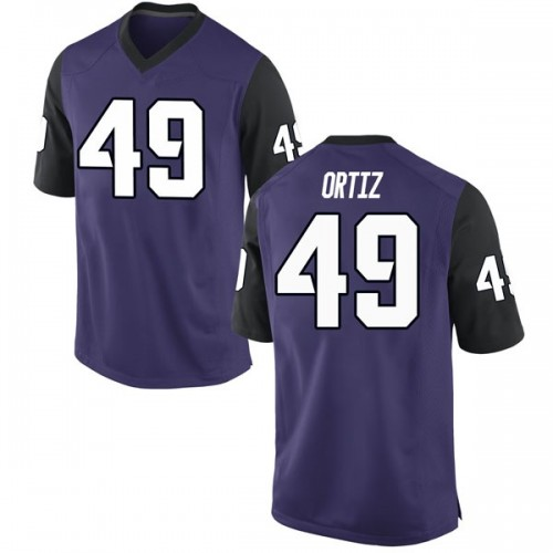 Youth Nike Antonio Ortiz TCU Horned Frogs Game Purple Football College Jersey