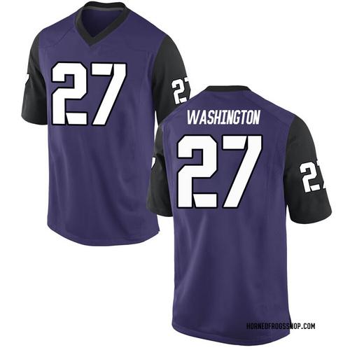 Youth Nike Ardarius Washington TCU Horned Frogs Replica Purple Football College Jersey