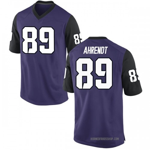 Youth Nike Austin Ahrendt TCU Horned Frogs Replica Purple Football College Jersey